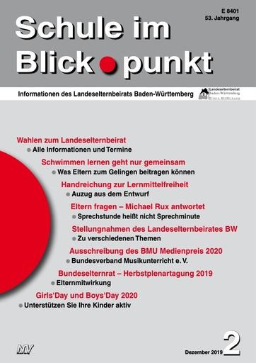 SiB, Schuljahr 2019/20, Nr 2, Dezember 2019, Eltern-Jahrbuch