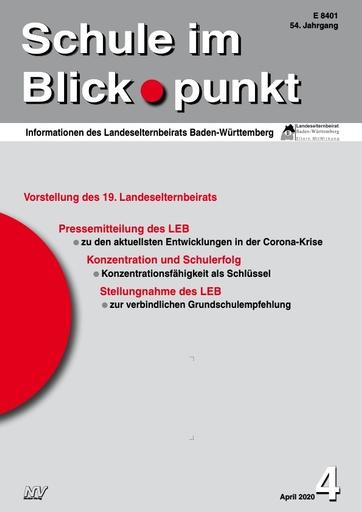 SiB, Schuljahr 2019/20, Nr 4, April 2020, Konzentration und Schulerfolg