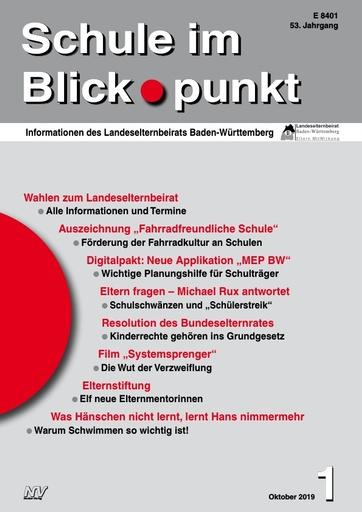SiB, Schuljahr 2019/20, Nr 1, Oktober 2019, Schuleschwänzen und Schülerstreik