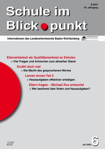 """SiB, Schuljahr 2019/20, Nr 6, Juli 2020 - Auswirkungen der """"Corona-Krise"""" auf die duale Berufsausbildung"""