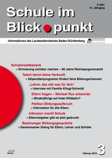 SiB, Schuljahr 2017/18, Nr 3, Februar 2018, Schülerwettbewerb 80 Jahre Reichsprogromnacht